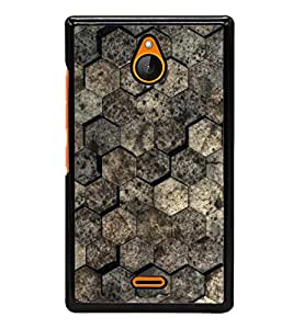 Brown Pattern 2D Hard Polycarbonate Designer Back Case Cover for Nokia X2 Dual SIM :: Nokia X2 RM-1013 :: Nokia X2DS