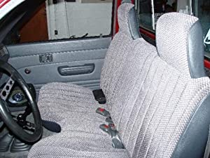 "1994 - 2003 Chevrolet Chevy S-10 S10 / GMC Sonoma S-15 S15 Front Bench Premium Regal Fabric Seat Covers, Molded Headrests, Manual Controls, Seat Belt Cutout, Large 6"" to 8"" Shifter Cutout, Custom Made Exact Fit Bench Seat Covers BLUE A27"