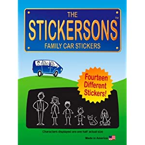 The Stickersons: Family Car Stickers Decal Kit