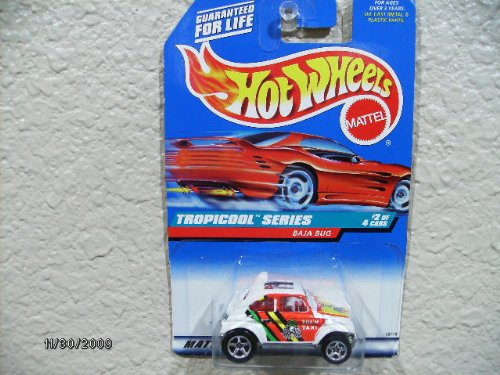 Hot Wheels Baja Bug 1998 Tropicool Series #694/larger Rear Wheel Malaysia Base - 1