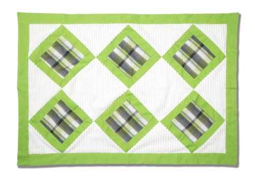 "Pavilion Gift Company Chenille Baby Blanket, Grasshopper, 27"" x 40"""