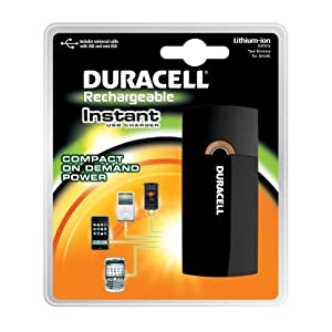Duracell Instant Usb Charger/Includes Universal Cable With Usb & Mini Usb 1 Count (Packaging May Vary)