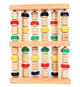 HealthPanion Set of Colorful Wheels Wood Foot Roller - DIY Foot Massager Tool - Treat Yourself to the Benefits of Reflexology and Relaxing Foot Massages at Home