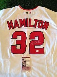 Josh Hamilton Signed Jersey - La Angels Of Anaheim coa - JSA Certified - Autographed... by Sports Memorabilia