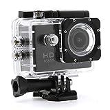 Japace® W9 HD 1080P WIFI Cámara de acción DV Impermeable(30m) Doporte Action Camera Fotocamera con Bicicleta Casco Vídeo Waterproof Video Camera(140 Grados Lente ) --- Negro