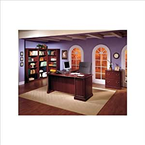 Amazon Com Bush Saratoga 5 Piece Executive Computer Desk