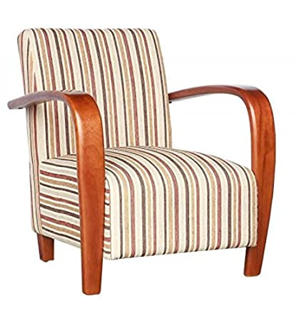 Restmore Stripe Antique Gold Chair