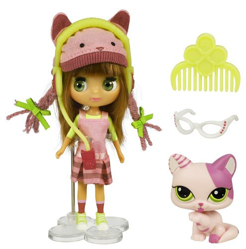 Imagen principal de Hasbro Littlest Pet Shop Blythe loves Pet Shop Gato - Muñeca con mascota de juguete y accesorios