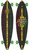 "Santa Cruz Mahaka Rasta Pintail Cruzer Freeride Longboard Deck Complete 43.5"""