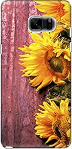 The Racoon Grip Fresh Sunflowers hard plastic printed back case/cover for Samsung Galaxy Note 7