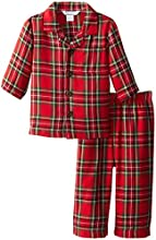 Kitestrings Baby-Boys Infant Boys Flannel 2 Piece Pajama Set, Red Plaid, 12 Months