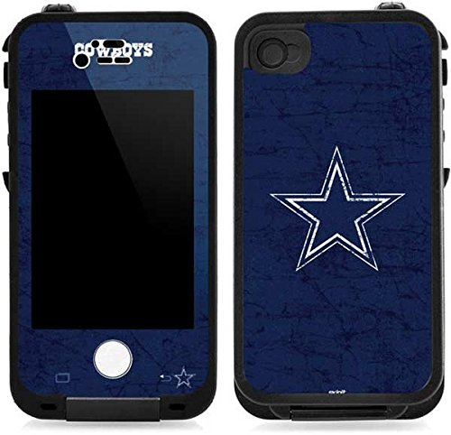NFL Dallas Cowboys Lifeproof iPhone 4&4s Skin - Dallas Cowboys Distressed Vinyl Decal Skin For Your Lifeproof iPhone 4&4s (Football Iphone 4 Case compare prices)