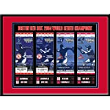 2004 World Series Tickets to History Framed Print - Boston Red Sox by That's My Ticket