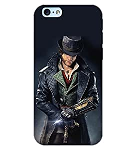 PrintDhaba WOLF MAN D-6416 Back Case Cover for APPLE IPHONE 6 (Multi-Coloured)