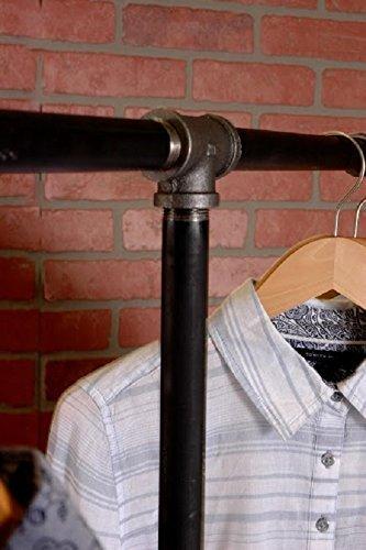 Industrial Pipe Rolling Clothing Rack 2-Way by William Robert's Vintage 2