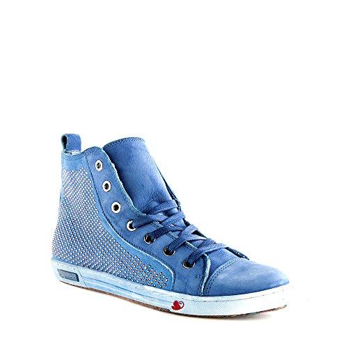Felmini - Scarpe Donna - Innamorarsi com Jomar 7846 - Sneakers - Pelle Genuina - Blu - 36 EU Size