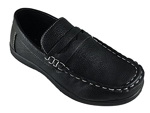 CoXist Boys Slip On Casual or Dress Penny Loafer Shoe (Toddler/Little Kid/Big Kid) black 6
