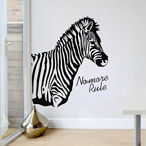 Wandsticker Wandbilder K¨¹che 64x53cm Zebra-Druck -Dschungel-Tier Modern Art Wandkunst Zebra Wandaufkleber Kunst für Wohnzimmerdekoration Wohnheim Klassenzimmer