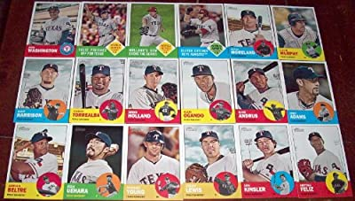 2012 Topps Heritage Texas Rangers Base 18 Card Team Set
