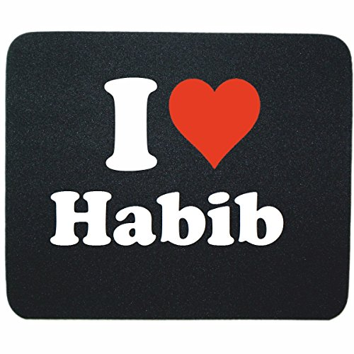 exclusive-gift-idea-mouse-pad-i-love-habib-in-black-a-great-gift-that-comes-from-the-heart-non-slip-