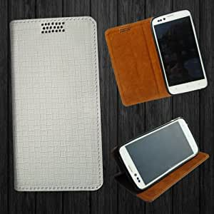 i-KitPit PU Leather Flip Case For Micromax Canvas Doodle A111 (WHITE)