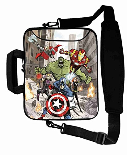 "Excellent Customized Colorful the avengers movie Laptop Bag Suitalbe Girl's (10 Inch) For 9.7""iPad Air 2-iPad 1 2 3 4 5-Samsung Galaxy Tab 3 S T700-Note 10.1-Tab PRO-Google Nexus 10 - CB-10-5637"