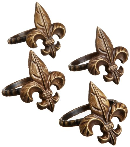DII Napkin Rings Set of 4, Fleur De Lis at Amazon.com