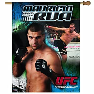 UFC Mauricio Rua 27-by-37 inch Vertical Flag
