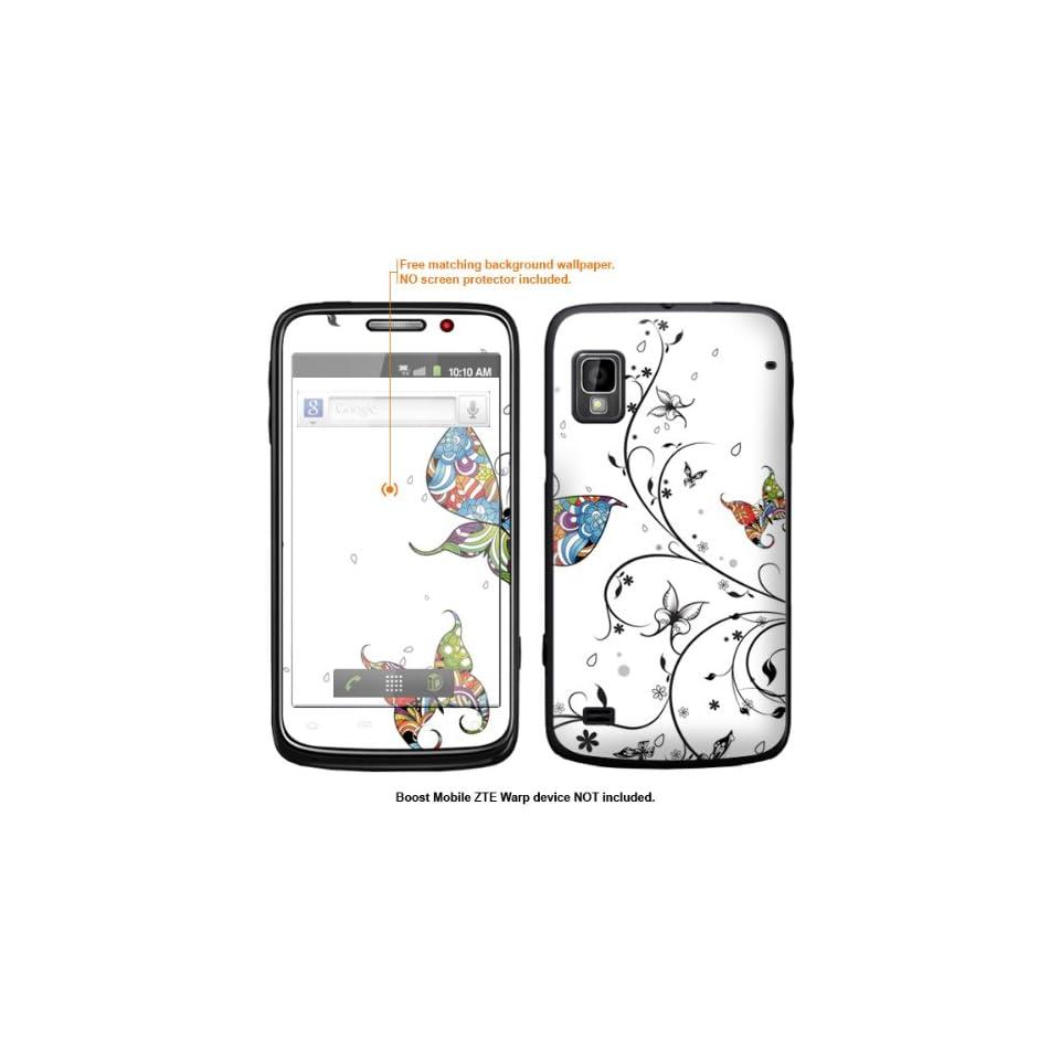 Protective Decal Skin Sticker for ZTE Warp  Boost Mobile version  case cover ZTEwarp 81