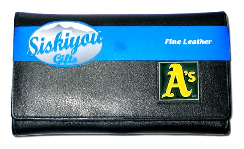 MLB Oakland Athletics Women's Leather Wallet