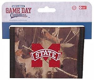NCAA Mississippi State Bulldogs Mens Bi-Fold Wallet (Camo)