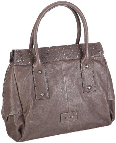 JETTE City Bag 03/13/02582, Damen Henkeltaschen, Grau (d.grey 960), 32x28x15 cm (B x H x T)