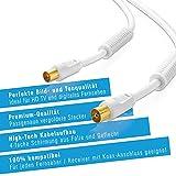 Sentivus-TV-Antennenkabel-25m-wei-HDTV-110dB-Koax-Stecker-Koax-Kupplung-4fach-geschirmt-vergoldet