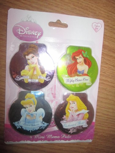 Disney Princess 4 Mini Memo Pads