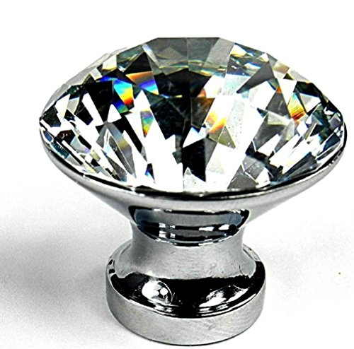 10PCS Diamond Shape Crystal Glass Cabinet Knob Cupboard Drawer (Size Name:30MM), New!!! (Baby Proof Oven Drawer compare prices)