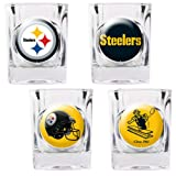 NFL Four Piece Square Shot Glass Set (Individual Logos)