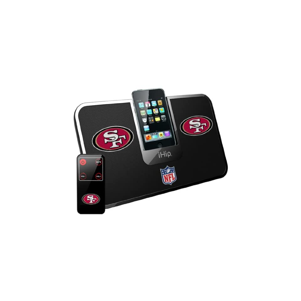 iHip Official NFL   SAN FRANCISCO 49ERs   Portable iDock Stereo Speaker with Wireless Remote NFV5000SAF