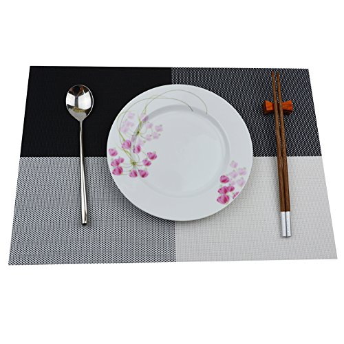 baicfquk deluxe pvc placemats placemat dining room placemats for