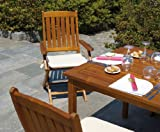 Tavolo da giardino in legno di Acacia Granada Moia rettangolare misure aperto L 150 cm - A 75 cm - P 90 cm