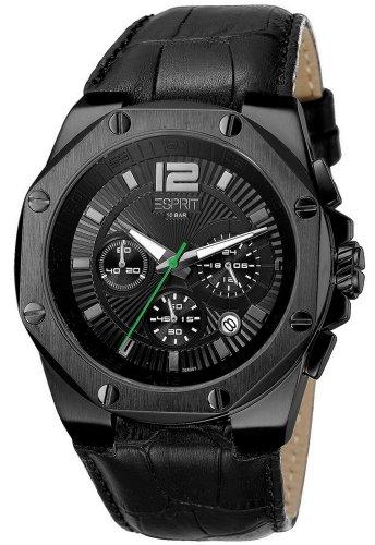 Esprit Herren-Armbanduhr XL Chronograph Leder ES102881003