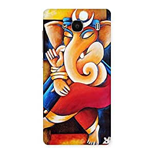 Premium Ganesha Abstract Art Back Case Cover for Redmi 2s