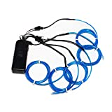 5 X 1 metre Brand new Blue Electroluminescent Wire (El Wire) by ZITRADES