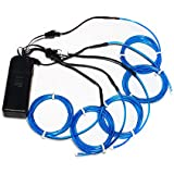 ZITRADES Electroluminescent Wire, 5 by 1-Metre, Blue