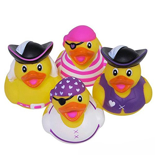 Girl Pirate Rubber Ducks - 12 pc