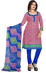 Manvaa Cotton Jacquard Printed Salwar Suit Material
