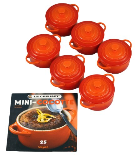 What Is The Price For Le Creuset Stoneware 6 Piece 8oz Mini Cocotte Set With Cookbook Flame Erselstreetleer