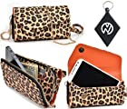 Leopard Brown Safari|Urban|Carrying case / Wallet phone cover Fits Nokia Asha 201 + NuVur ™ Keychain (ESMLUSN1)