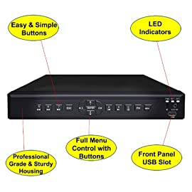 iSmart 4 Channel H.264 CCTV Security Surveillance HDMI Motion Recording DVR with pre-installed 500GB Hard Drive (D6104FH + 500GB)