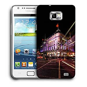 Snoogg New York Street Printed Protective Phone Back Case Cover For Samsung Galaxy S2 / S II