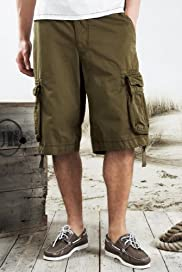 North Coast Pure Cotton Belted Cargo Shorts [T17-2213n-S]